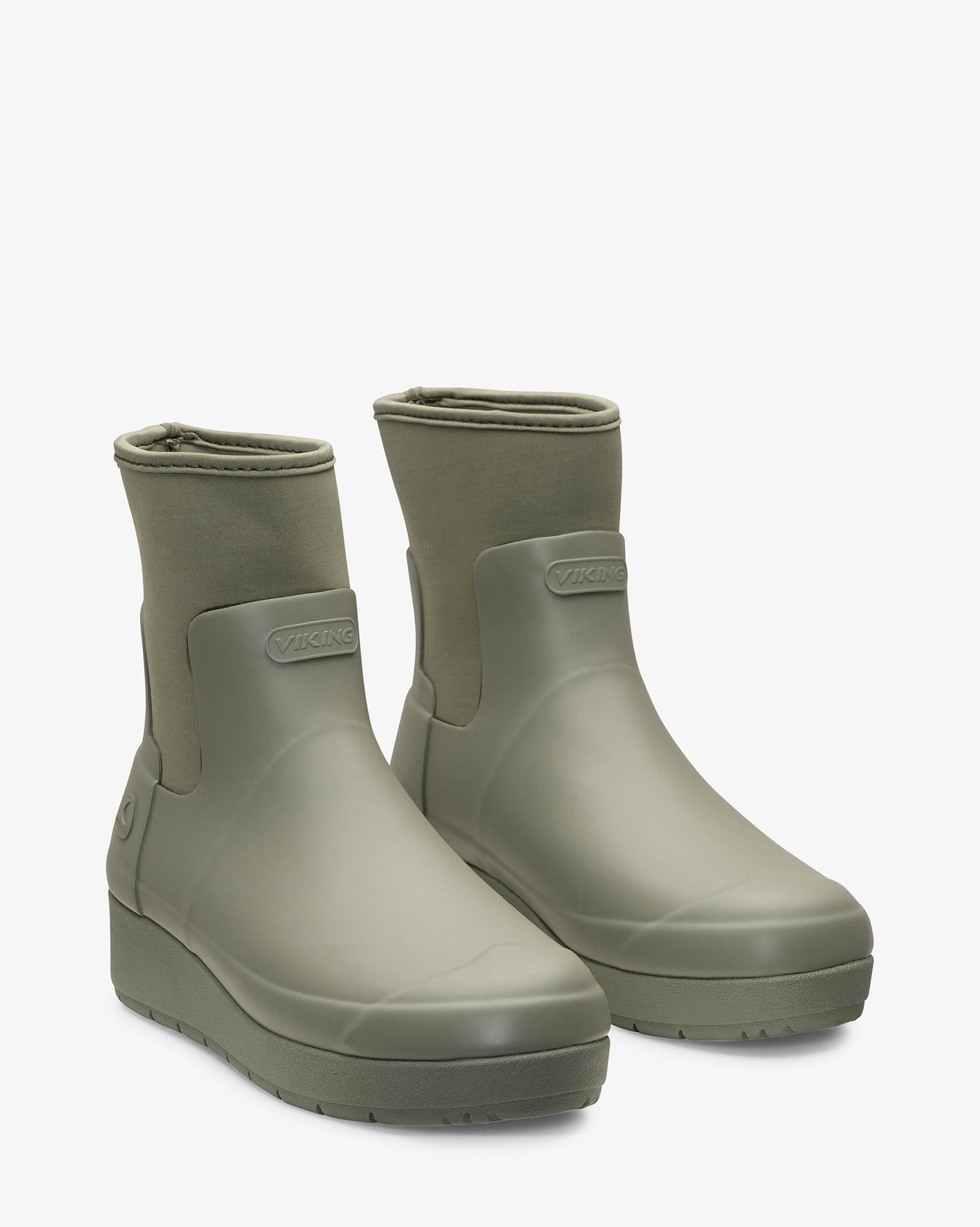 Stockholm Olive Rubber Boot
