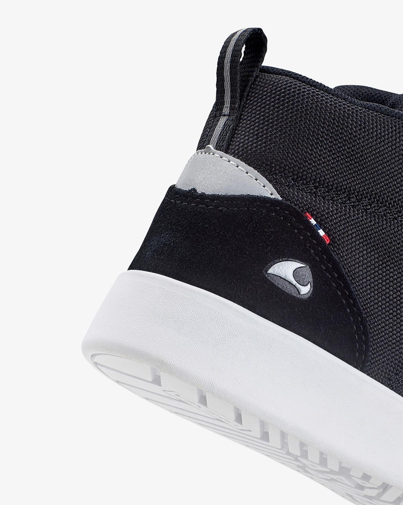 Smile Mid Black Sneakers