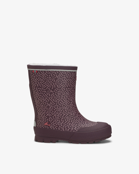 Jolly Thermo Print Bordeaux Rubber Boots