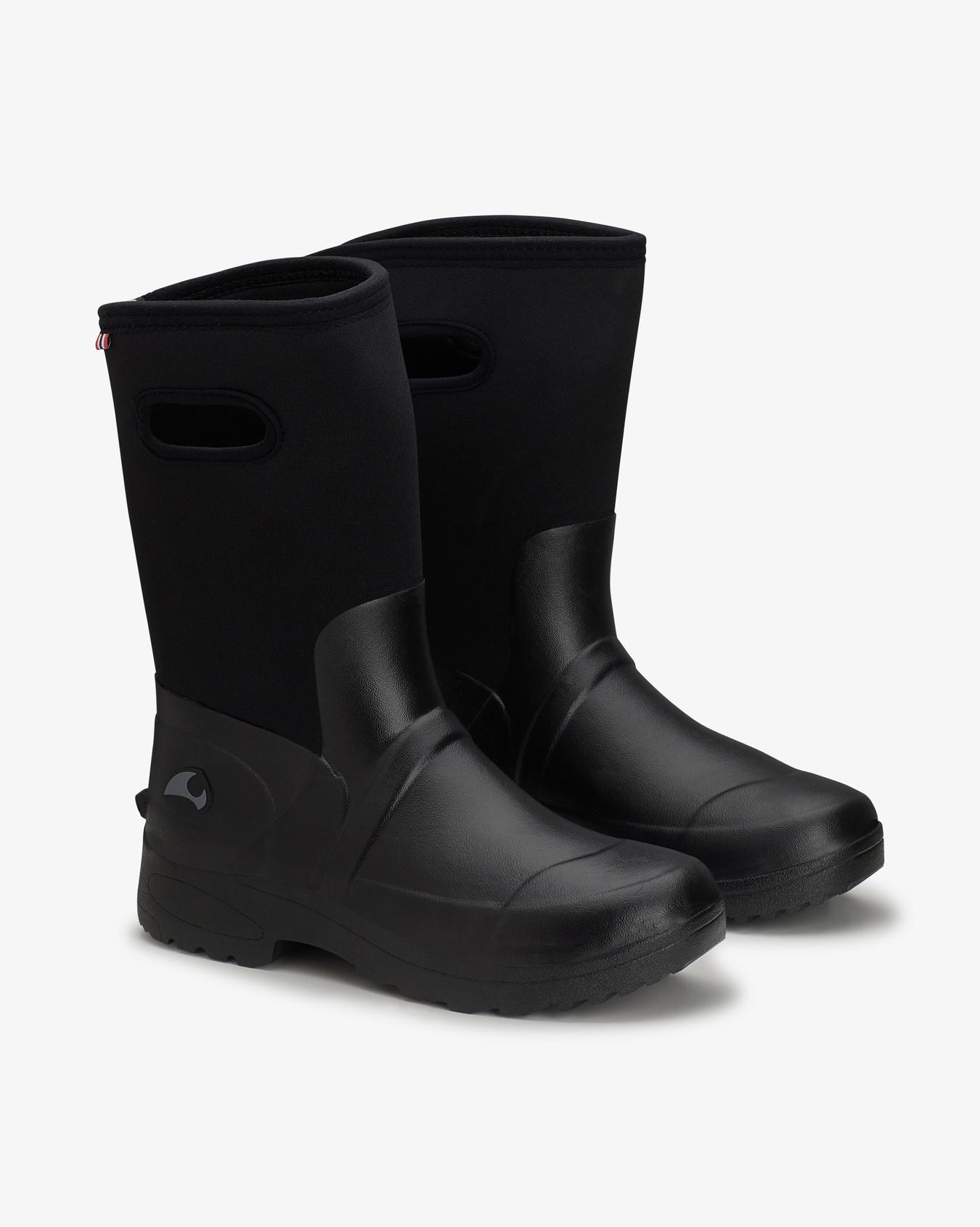Viking Grab Neo Black Rubber Boots