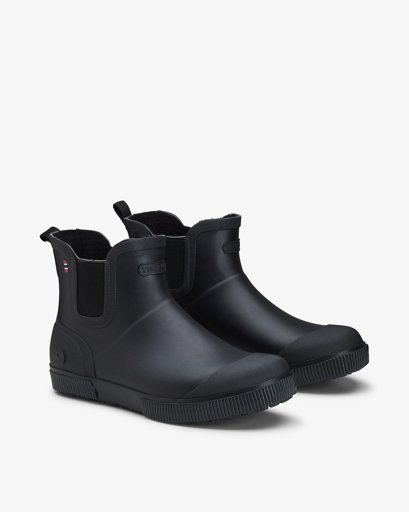 Praise Black Fleece Rubber Boots