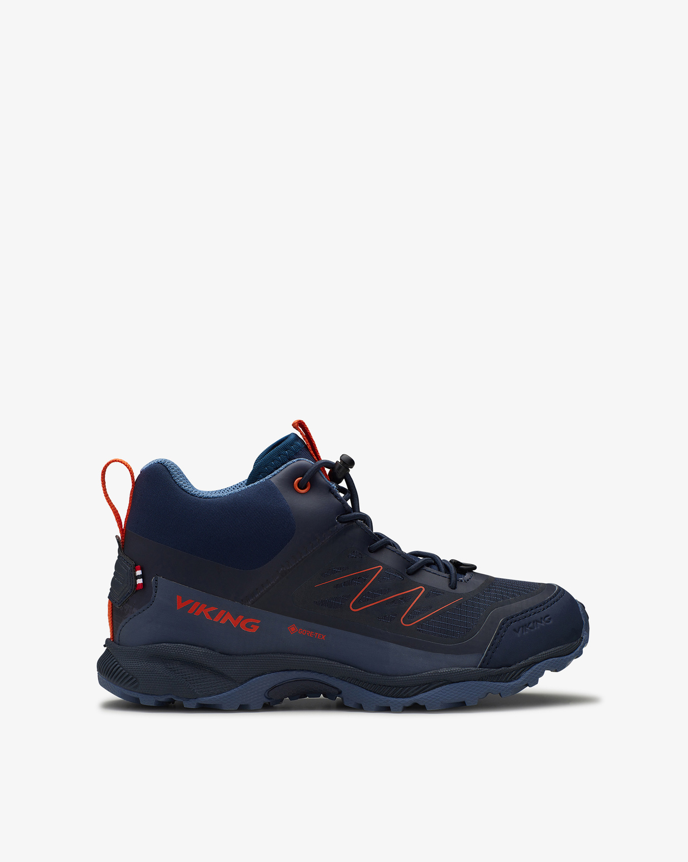Tind Mid GTX Navy Rust Hiking Boots